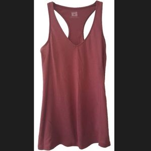 Urban Outfitters BDG Maroon Burnout Racerback Tank